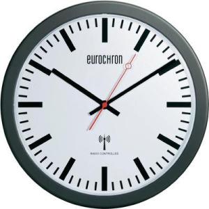 Rádiójel vezérlésű analóg pályaudvari óra, Ø 30 cm, EFWU 3600 fekete