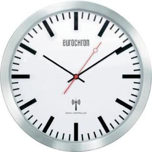 Conrad Rádiójel vezérlésű pályaudvari óra, EFWU 3602 alumínium