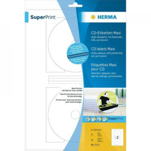 HERMA CD/DVD címke fehér maxi 50db