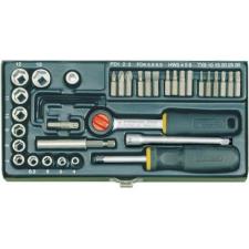"""Proxxon Industrial Proxxon 38 részes ipari csavarhúzó készlet, dugókulcs készlet, mágneses betéttartóval 6,3mm (1/4"""") dugókulcs"""