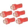 Conrad Eufab LED-es műszerfallámpa, 12V, T5, piros, 5 db