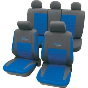 Autós Autós üléshuzat készlet, 11 részes kék