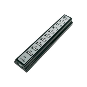 LogiLink 10 portos USB HUB, fekete, LogiLink