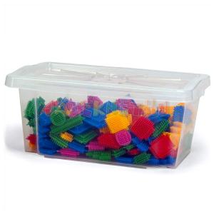 Wader Színes tüskés építőelemek dobozban - 180 db