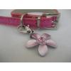 JJ Pets Flower pink virágmintás medál strasszkővel