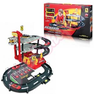 BBurago Ferrari parkológarázs játékszett 1/43-as kisautókkal