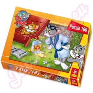 Tom és Jerry: Jerry napozik 160 db-os puzzle - Trefl