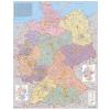 Stiefel Eurocart Kft. Németország irányítószámos térképe tűzhető, keretes