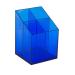 ICO szögletes írószertartó áttetsző kék