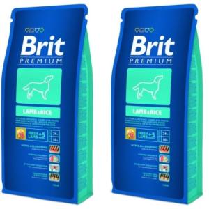 Brit Premium Lamb & Rice 2*15 kg
