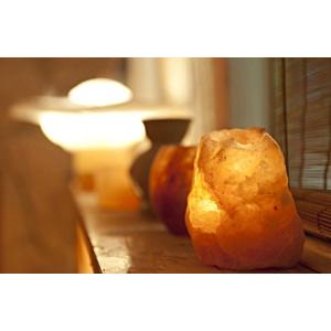Kristálysó ionizátor üvegtállal -- sóterápia otthon