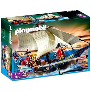 Playmobil Vörös kabátos katonák vitorlása ágyúval - 5140