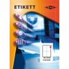 Etikett címke pd 105x148 szegély nélkül 400 db/doboz
