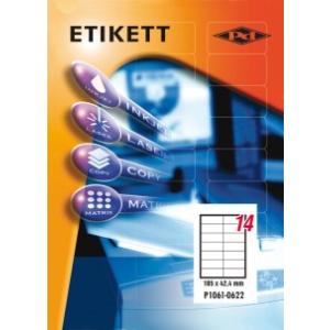 Etikett címke pd 105x42.4 szegély nélkül 1400 db/doboz