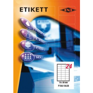Etikett címke pd 70x36 szegéllyel 2400 db/doboz