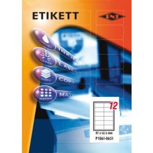 Etikett címke pd 97x42.4 szegéllyel 1200 db/doboz
