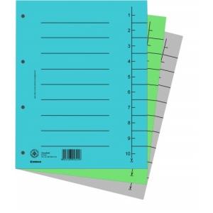 DONAU Karton elválasztó lapok A4 rózsaszín