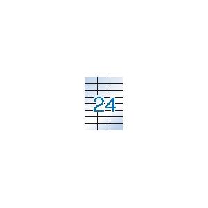 APLI 3 pályás áttetsző etikett, 70 x 37 mm, matt, 2400 etikett/csomag