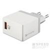 4smarts VoltPlug hálozati gyorstöltő adapter, QC 3.0, 3A, fehér