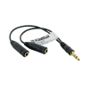 4world 1xJack 3.5 mm - 2xJack 3.5 mm audió adapter