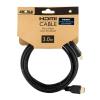 4world HDMI - HDMI kábel High Speed with Ethernet (v1.4)  3D  HQ  BLK  3m