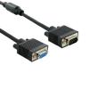 4world Monitor hosszabító kábel VGA / SVGA  D-Sub15 M / F 1.8m ferrite