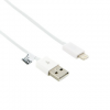 4world USB kábel iPhone 5/iPad 4/iPad mini transfer/töltőhöz 1.0m fehér
