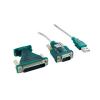 4world USB to Serial DB9M DB25M Adapter - OEM