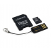 Kingston Micro SD 4GB+ SD adapter + USB olvasó G2