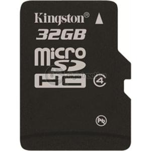 Kingston SD micro memória kártya 32GB (SDHC Class 4) (SDC4/32GBSP)