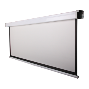 Funscreen Matt White Motor 244x153 cm; Format 16:10 fehér acél tok