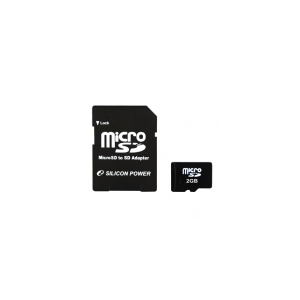 Silicon Power 2GB Micro Secure Digital Card  + SD adapter