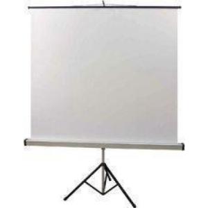 ADEO 180cm x 180cm 1:1 hordozható 3 lábú állványos vetítővászon