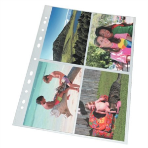 ESSELTE Lefűzhető fényképtartó tasak, A4, 80mn