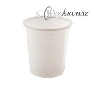 """Műanyag pohár, fehér, 1 dl (100 db)"""