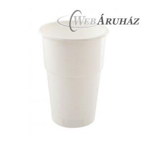 """Műanyag pohár, fehér, 5 dl (50 db)"""