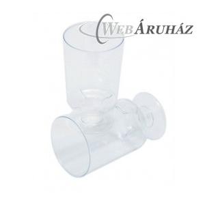 """""""Műanyag talpas borospohár, víztiszta, 10 cl (15 db)"""""""