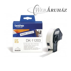 "Brother ""Brother DK-11203 tekercs (17 x 87mm) - 300db/tekercs"""