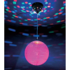 LED-es diszkógömb, LED-es tükörgömb forgató motorral 20cm