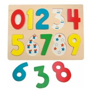 Woodyland Fa puzzle, számok