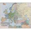 Stiefel Eurocart Kft. Európa politikai térképe, fakeretben (1941)