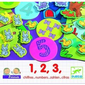 DJECO Eduludo 1, 2, 3 számolós társasjáték