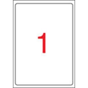 APLI 1 pályás etikett, 199,6 x 289,1 mm, kerekített sarkú, 100 etikett/csomag