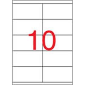 APLI 2 pályás etikett, 105 x 57 mm, 1000 etikett/csomag