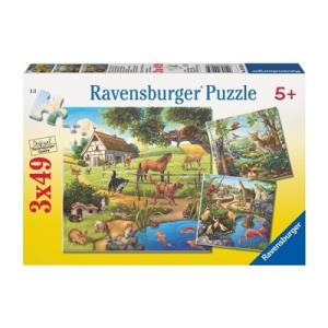 Ravensburger Állatok 3x49 db