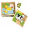 Fa puzzle, állatos