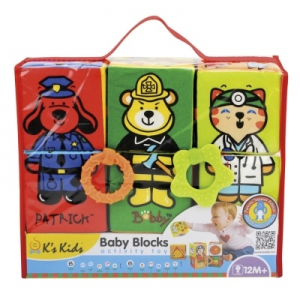 K's Kids bébi plüss építőkocka