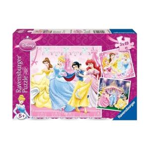 Ravensburger Disney Hercegnők puzzle, 3x49 darab