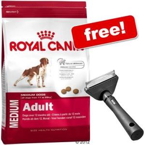 Royal Canin Nagytasakos Size+Perfect Care Furmaster ingyen - Medium Starter (12 kg)