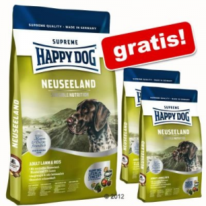 Interquell Nagytasakos Happy Dog Supreme + 2 kg ingyen! - Medium Junior 25 (10 kg + 2 x 1 kg)